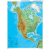 Stiefel Észak-Amerika domborzati térképe