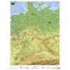 Stiefel Németország, domborzati + vaktérkép DUO (német nyelvű)