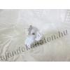 Elefánt szobor fehér porcelán 3 cm