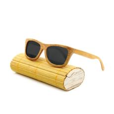 Divatos bambusz napszemüveg, bambusz tokkal