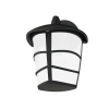 EGLO 93516 outdoor-wall-lamp 1-light GX53-LED 7W, downwards, black