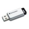 "Verbatim Pendrive, 64GB, USB 3.0, 100/35MB/sec, PC & MAC, VERBATIM ""SECURE DATA PRO"", szürke"