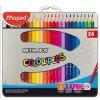"""MAPED Színes ceruza készlet, háromszögletű, fém doboz, MAPED """"Color\´Peps"""", 24 különböző szín"""