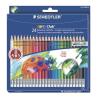 """STAEDTLER Színes ceruza készlet radírral, hatszögletű, STAEDTLER """"Noris Club"""", 24 különböző szín"""