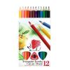 """ICO Színes ceruza készlet, háromszögletű, vastag, ICO """"Süni"""", 12 különböző szín"""
