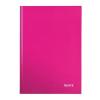 """Leitz Beíró, A4, kockás, 80 lap, keményfedeles, lakkfényű, LEITZ """"Wow"""", rózsaszín"""