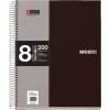 """MIQUELRIUS Spirálfüzet, A5, kockás, 200 lap, MIQUELRIUS """"Note book 8"""", fekete"""
