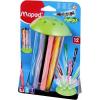 """MAPED Filctoll készlet, 2,8 mm, elhagyhatatlan kupakos, MAPED """"Color\´Peps Jungle"""", 12 különböző szín"""