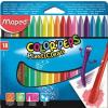 """MAPED Zsírkréta, MAPED """"Color\´Peps"""" PlastiClean, 18 különböző szín"""