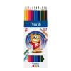 """ICO Színes ceruza készlet, hatszögletű, ICO """"Creative Kids"""", 12 különböző szín"""