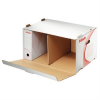 """ESSELTE Archiváló konténer, karton, előre nyíló, ESSELTE """"Standard"""", fehér"""