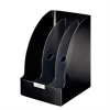 """Leitz Iratpapucs, műanyag, 205 mm, elválasztókkal, LEITZ """"Plus Jumbo"""", fekete"""