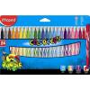 """MAPED Filctoll készlet, 2,8 mm, kimosható, MAPED """"Color\´Peps Jungle"""", 24 különböző szín"""