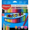 """MAPED Színes ceruza készlet, háromszögletű, MAPED """"Color\´Peps"""", 48 különböző szín"""