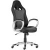 """. Főnöki szék, mesh és műbőr borítás, műanyag lábkereszt, """"OREGON"""", fekete-szürke"""