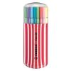 """STABILO Rostirón készlet, 1 mm, piros tok, STABILO """"Pen 68 Zebrui"""", 20 különböző szín"""
