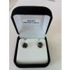 . Fülbevaló, Crystals from SWAROVSKI®, black diamond, 8mm