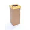 """ÖKUKA Szelektív hulladékgyűjtő, újrahasznosított, 60 l, RECOBIN """"Slim"""", sárga"""