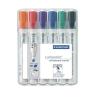 """STAEDTLER Táblamarker készlet, 2-5 mm, vágott, STAEDTLER """"Lumocolor 351 B"""", 6 különböző szín"""