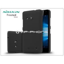 Microsoft Lumia 550 hátlap képernyővédő fóliával - Nillkin Frosted Shield - fekete tok és táska