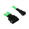 Nanoxia 4-tûs Molex 2x 3-pólusú adapter - 30 cm, zöld / fehér