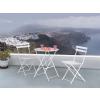 Beliani Fehér kerti bútor szett - Terasz bútor - Kerti asztal - 2 db. szék - acél - FIORI