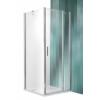Roltechnik Tower Line TDO1 aszimmetrikus  zuhanykabin egy ajtóval és oldalfallal 90x100, ezüst profillal