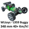 WLtoys L959 - Off Road Buggy RC autó: 348 mm hossz, 40+ km/h!