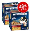 FELIX Sensations aszpikban 48 x 100 g - Vegyes csomag