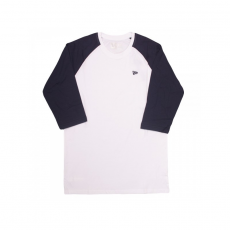 New Era ESS LS RAGLAN TEE NAVY