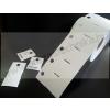 Kartoncímke PES 40×50 mm / függesztő lyuk / időjárásálló műanyag címke / nem öntapadós