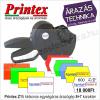 Printex 2 soros PRINTEX Z15 egységáras árazógép 8+7 karakter (+10 tekercs címke)