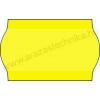 26×16mm eredeti OLASZ fluo citrom árazógépszalag /hullámos