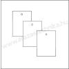 Függő címke 30×40mm / fehér / 200db/csom