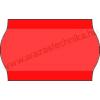 26×16mm eredeti OLASZ fluo piros árazószalag / hullámos