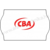 25×16mm CBA feliratos árazószalag