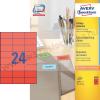 Avery 70x37mm piros univerzális címke / Avery 3448