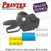 Printex Z20 kétsoros árazó / dátumozógép 10+10 karakteres