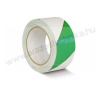 Padlójelölő szalag 50mm×33fm zöld/fehér öntapadós jelölőszalag ragasztószalag