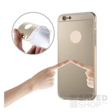 utángyártott Apple iPhone SE/5S/5 Mirror tükrös szilikon hátlap tok, arany tok és táska
