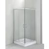 Deante Funika szögletes zuhanykabin, átlátszó üveggel, króm profillal, tálca nélkül 80x80 cm