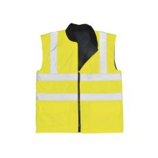 S469 - Jól láthatósági kifordítható mellény - sárga
