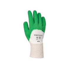A171 - Latex mártott kesztyű nyitott kézháttal - zöld