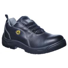 FC02 - Compositelite ESD félcipő, bőr felsőrésszel, S1 - fekete