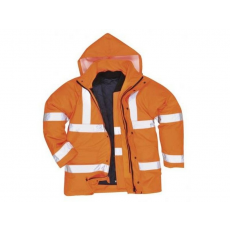 S468 - Jól láthatósági 4 az 1-ben kabát - narancs