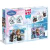 Clementoni Disney Jégvarázs 4in1 – 2 db puzzle + memóriajáték + dominó – Clementoni