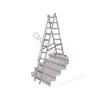 KRAUSE 013385 CORDA 3x8 fokos sokcélú létra lépcsőfunkcióval