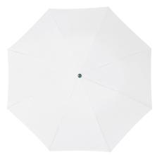 RAINBOW esernyõ, fehér (RAINBOW kézi nyitású egyszeres teleszkópos összecsukható esernyõ, nylon)