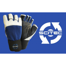 Scitec Nutrition Kesztyű Power Blue with wrist wrap férfi sötétkék L Scitec Nutrition