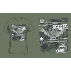 Scitec Nutrition T-Shirt Made Of Iron férfi zöld póló XL Scitec Nutrition
